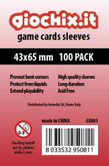 43x65mm Transparent Card Sleeves (100)