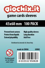 45x68mm Transparent Card Sleeves (10 Packs of 100)