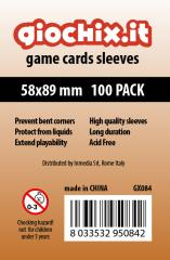 58x89mm Transparent Card Sleeves (10 Packs of 100)