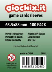 63.5x88mm Transparent Card Sleeves (100)