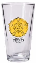 Game of Thrones Pint Glass - Tyrell Sigil