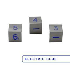 Metal D6 - Gunmetal w/Electric Blue (3)