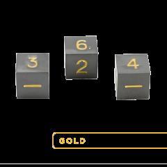 Metal D6 - Gunmetal w/Gold (3)