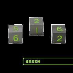 Metal D6 - Gunmeatal w/Green (3)
