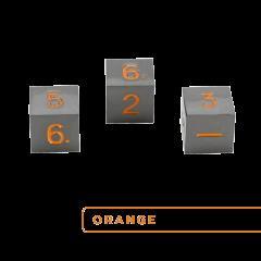 Metal D6 - Gunmetal w/Orange (3)
