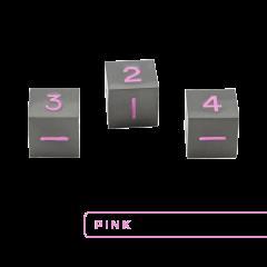Metal D6 - Gunmetal w/Pink (3)