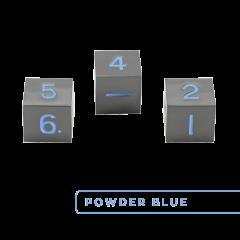 Metal D6 - Gunmetal w/Powder Blue (3)