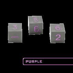 Metal D6 - Gunmetal w/Purple (3)