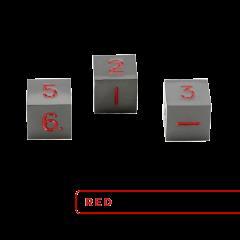Metal D6 - Gunmetal w/Red (3)