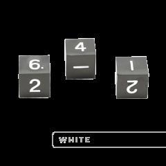 Metal D6 - Gunmetal w/White (3)