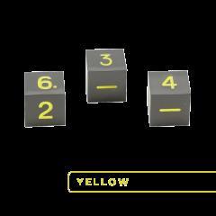 Metal D6 - Gunmetal w/Yellow (3)