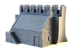 Castle Wall w/Building