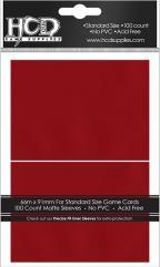 Standard CCG Size - Matte, Red (100)