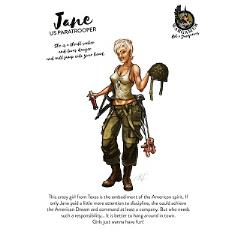 Jane, the US Paratrooper (54mm)