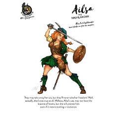 Ailsa, the Highlander (54mm)