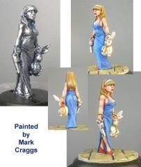 Alice with White Rabbit (Re-Sculpt)