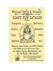 Weyland Smith & Company Giant Fun Catalog