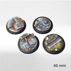 40mm ISC/Techno Round Bases (4) (2nd Edition)