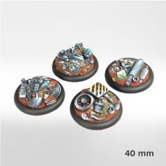 40mm Machine Scrapyard Round Bases (4) (2nd Edition)