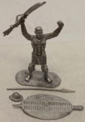 Zulu Warrior w/Martini & Shield #1