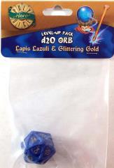 1d20 Orb - Lapis Lazuli & Glittering Gold