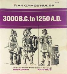 War Games Rules (5th Edition) - 3000 B.C. to 1250 A.D.