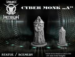 Cyber Monk Statue A