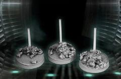 40mm Round Bases - Flying Bases (3)