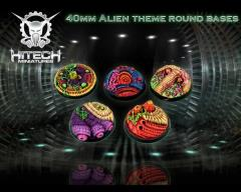 40mm Round Bases - Alien Themed (5)