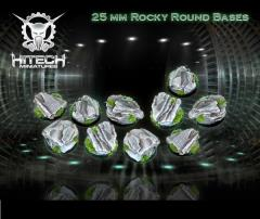 25mm Round Bases - Rocky (10)