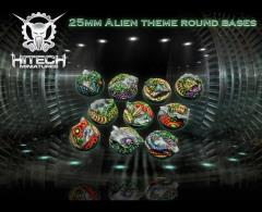 25mm Round Bases - Alien Themed (10)