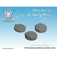 50mm Round Bases - Rocky (3)
