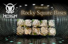 20mm Square Bases - Rocky (10)