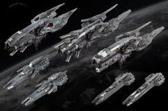Starter Fleet - United Colonies of Mankind