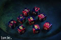 d6 Tube - Red & Black w/Mark of the Necronomicon Design (9)