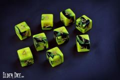 d6 Tube - Yellow & Green w/The Yellow Sign Design (9)
