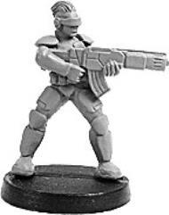 Prosthene Sergeant w/Gauss Rifle