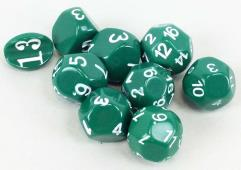 Odd Numbered - Green w/White (9)