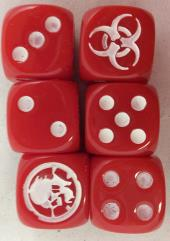 Zombie Killer Dice - Red w/White (D6)