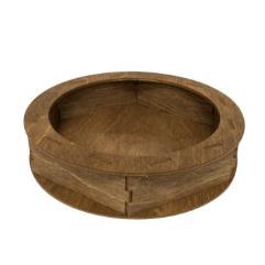 Circular Dice Tray - Walnut