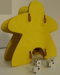 Knockdown Dice Tower - Meeple - Yellow