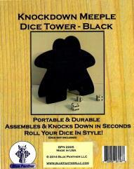 Knockdown Dice Tower - Meeple - Black