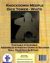 Knockdown Dice Tower - Meeple - White