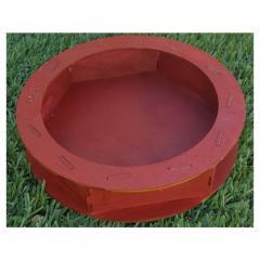 Circular Dice Tray - Cranberry