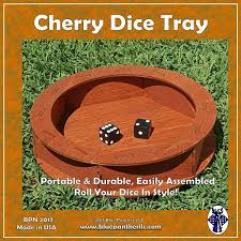 Circular Dice Tray - Cherry