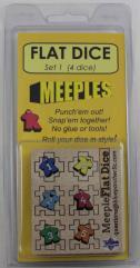 Flat Dice #1 - Meeples (4)
