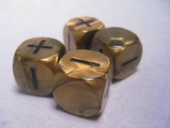 Fudge Dice - Olympic Gold (4)