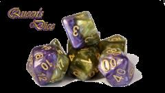 Poly Set Queen's Dice (7)
