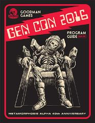 Gen Con 2016 Program Guide w/3 DCCRPG Modules