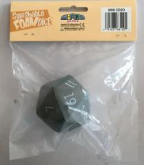 Squishy Dice - Dark Grey D20